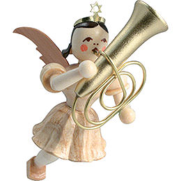 Floating Angel Tuba, Natural  -  6,6cm / 2.6 inch