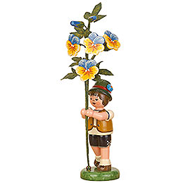 Flower Child Boy with Horned Violet  -  17cm / 7 inch