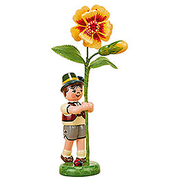Flower Child Boy with Tagetes   -  11cm / 4,3 inch