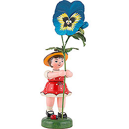 Flower Child with Pansies  -  24cm / 9,5 inch