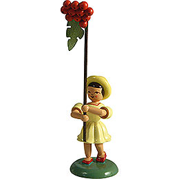 Flower Child with Rowan Berry, Colored  -  12cm / 4.7 inch