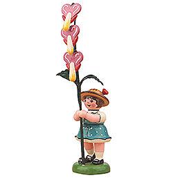Flower Girl with Bleeding Heart  -  11cm / 4,3 inch