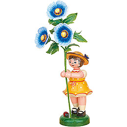 Flower Girl with Hollyhock  -  24cm / 9.4 inch