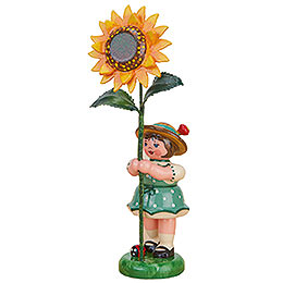 Flower Girl with Sunflower  -  11cm / 4,3 inch