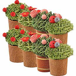 Flower Pot, 8 Stück  -  3cm / 1.1 inch