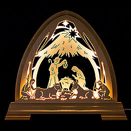 Gotischer Bogen Stall  -  40x37cm