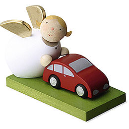 Guardian Angel with Car  -  3,5cm / 1.3 inch