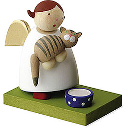 Guardian Angel with Cat  -  3,5cm / 1.3 inch