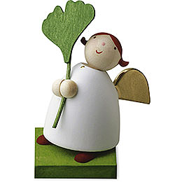 Guardian Angel with Gingko Leaf  -  3,5cm / 1.3 inch