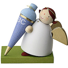 Guardian Angel with School Cone  -  Boy  -  3,5cm / 1.3 inch