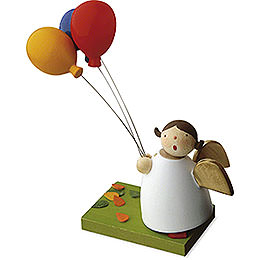 Guardian Angel with Three Balloons  -  3,5cm / 1.3 inch