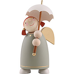 Guardian Angel with Umbrella, Green  -  8cm / 3.1 inch