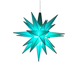 Herrnhuter Moravian Star A1e Turquois Plastic, Special Edition 2017  -  13cm/5.1 inch