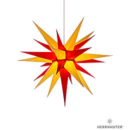 Herrnhuter Moravian Star I7 Yellow/Red Paper  -  70cm / 27.6 inch