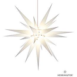 Herrnhuter Stern I8 weiß Papier  -  80cm