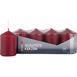 High Quality Pillar Candles Burgundy  -  D=3.8cm (1.5 inch)