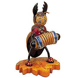 Hirschkäfer mit Ziehharmonika  -  8cm
