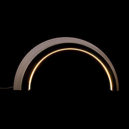 Holz - Design - LED - Bogen groß  -  dunkel  -  KAVEX - Krippe  -  75x40cm