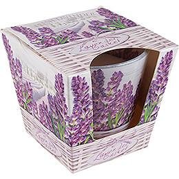 JEKA Scented Candle  -  Lavender Basket  -  Fresh Lavender  -  8,1cm / 3.2 inch