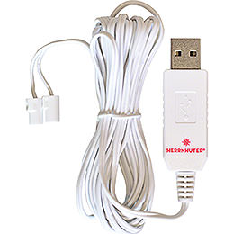 Kabel für USB - Steckernetzteil, 2,5 m weiß