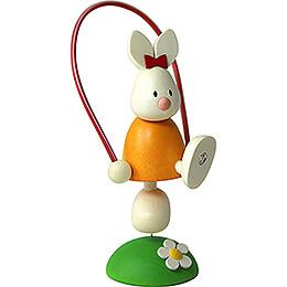Kaninchen Emma mit Springseil  -  7cm