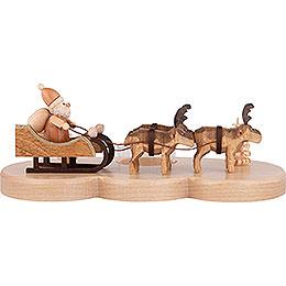 Kerzenhalter Ruprecht und seine Rentiere natur  -  9cm