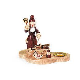 Kerzenhalter Weihnachtsmann mit Schlitten  -  9cm