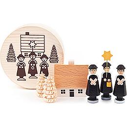 Kurrendefiguren schwarz in Spandose  -  4cm