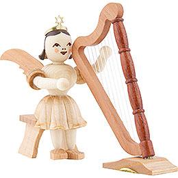 Kurzrockengel Harfe sitzend, natur  -  6,6cm