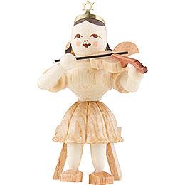 Kurzrockengel Violine sitzend, natur  -  6,6cm