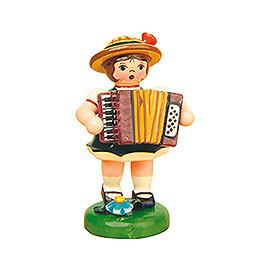 Lampionkind Mädchen mit Akkordeon  -  8cm