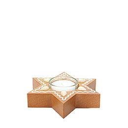 Lebkuchenstern mit Teelicht  -  3cm
