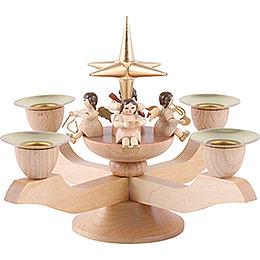 Leuchter mit Engeln  -  gold  -  12cm