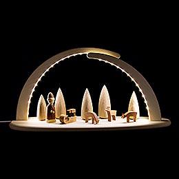 Leuchterbogen mit LED  -  Weihnachtsmotiv  -  42x21cm