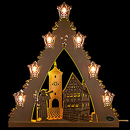 "Lichterspitze ""Rothenburg ob der Tauber""  -  LED  -  38x43x4,5cm"