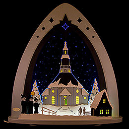 "Light Triangle  -  LED ""Church of Seiffen""  -  52x53,5x9cm / 20x21x3.5 inch"