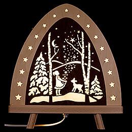 """Light Triangle """"Star Money""""  -  30x32cm / 11.8x12.6 inch"""