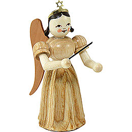 Long Pleated Skirt Angel Conductor, Natural  -  6,6cm / 2.6 inch