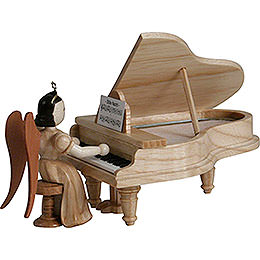 Long Pleated Skirt Angel at the Piano, Natural  -  6,6cm / 2.6 inch