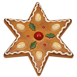 Magnetic Pin  -  Almond Star  -  7cm / 2.8 inch