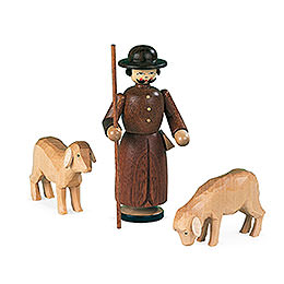 Manger - Figurines  -  Shepherd with 2 Sheep  -  13cm / 5 inch
