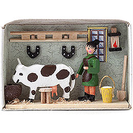 Matchbox  -  Cow Stable  -  4cm / 1.6 inch