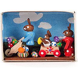"""Matchbox  -  """"Lucky Bunnies""""  -  4cm / 1.6 inch"""