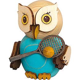 Mini - Eule mit Tennisschläger  -  7cm