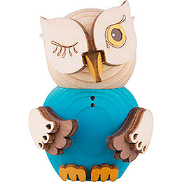 Mini Owl Blue  -  7cm / 2.8 inch