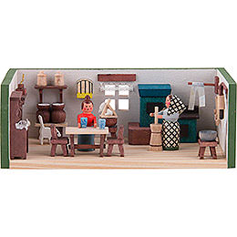 Miniaturstübchen Bauernstube  -  4cm