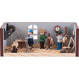 Miniaturstübchen Drehwerk  -  4cm