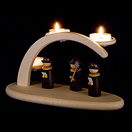 Modern Light Arch  -  Carolers  -  24x13cm / 9.4x5.1 inch