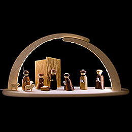 Modern Light Arch  -  LED Illuminated  -  Nativity  -  42x21x13cm / 16x8x5 inch