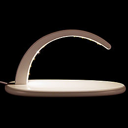 Modern Light Arch with LED  -  without Figurines  -   -  white  -  24x13cm / 9.4x5.1 inch